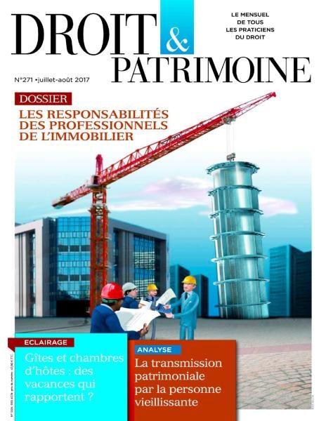 Droit & Patrimoine — Juillet-Août 2017