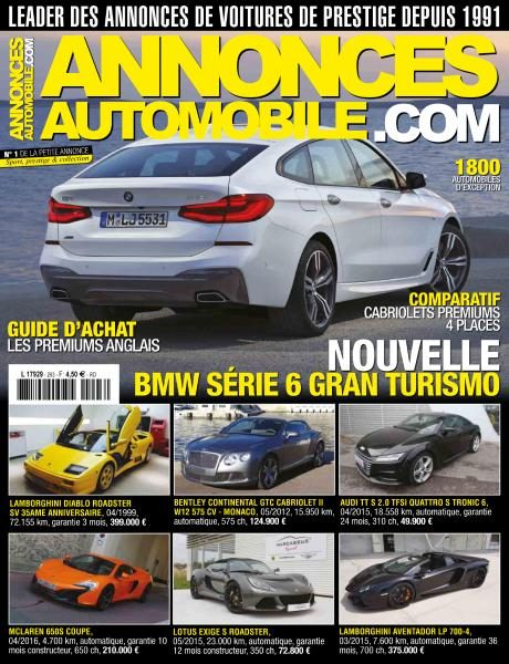 Annonces Automobile.com — Numero 293 2017