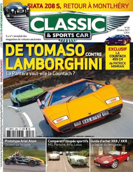 classic sports car france octobre 2017 t l charger pdf magazine gratuitement. Black Bedroom Furniture Sets. Home Design Ideas