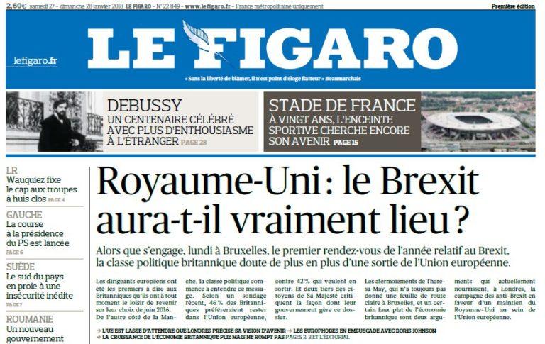 Le Figaro – 27.01.2018 – 28.01.2018