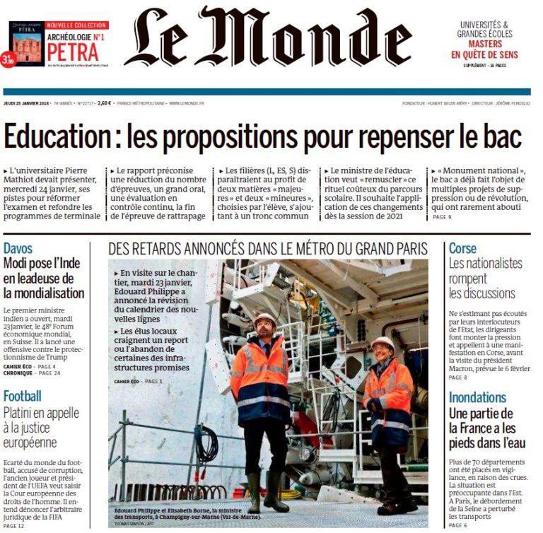 Le Monde – 25.01.2018