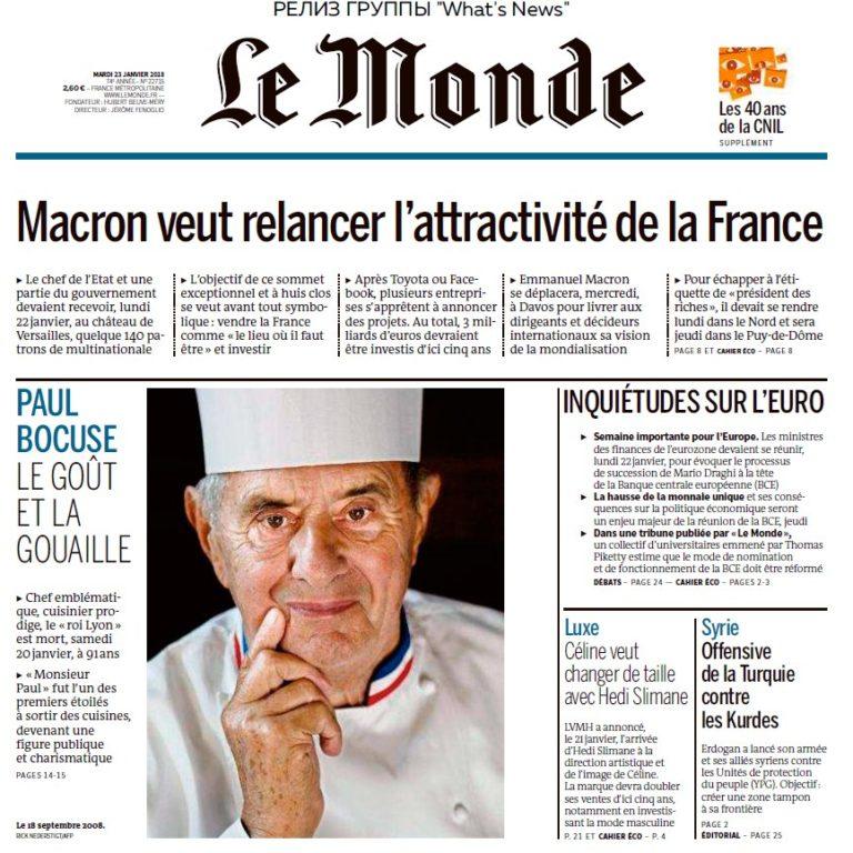 Le Monde – 23.01.2018