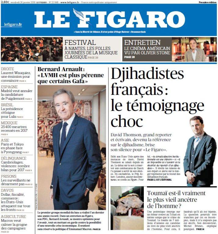 Le Figaro – 26.01.2018