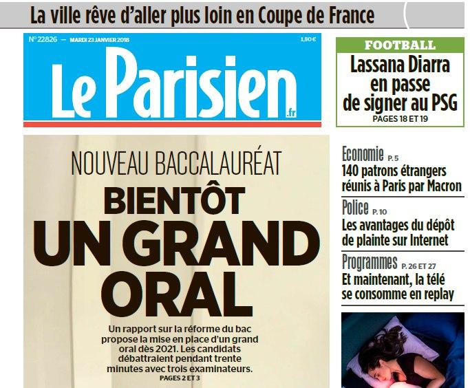 Le Parisien – 23.01.2018