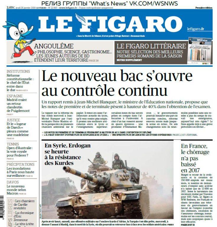 Le Figaro – 25.01.2018