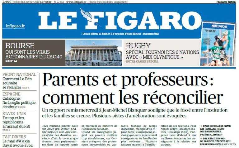 Le Figaro – 31.01.2018