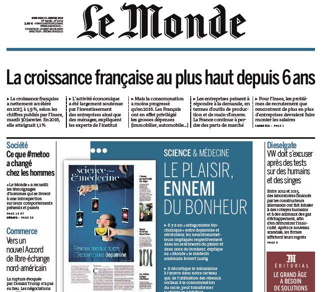 Le Monde – 31.01.2018