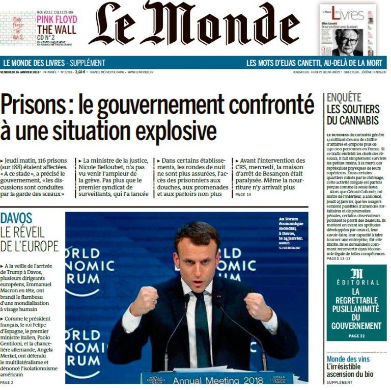 Le Monde – 26.01.2018