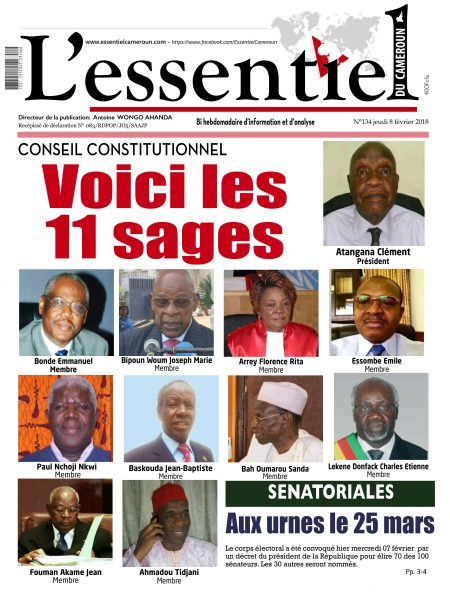L'essentiel Du Cameroun — 08 Février 2018
