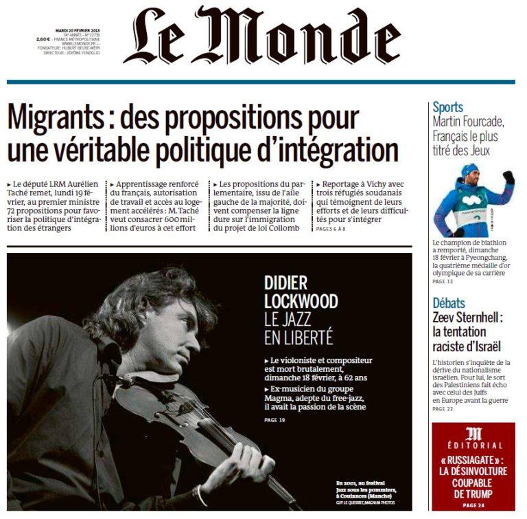 Le Monde – 20.02.2018