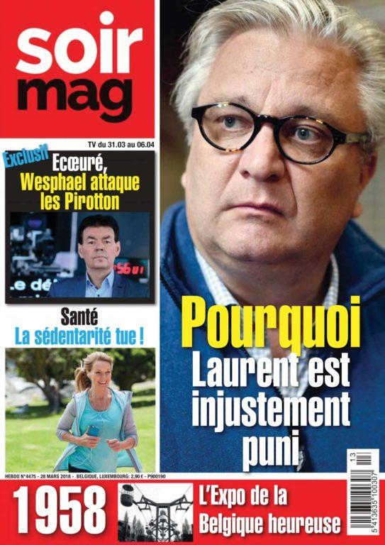 Le Soir Magazine – 31 Mars 2018