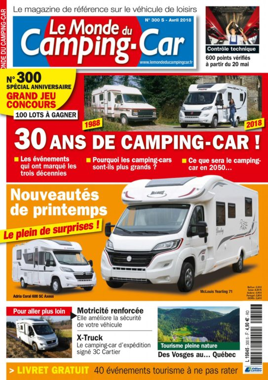 Le Monde Du Camping-Car – Avril 2018