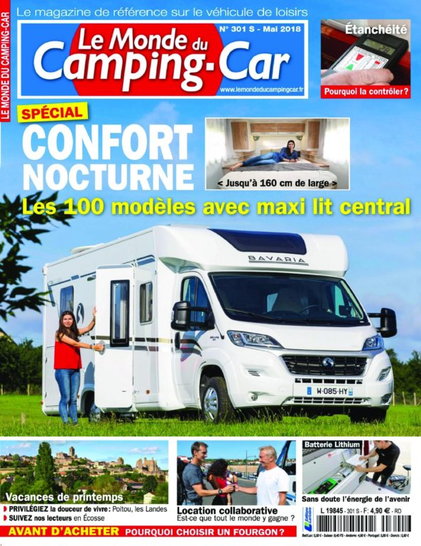le monde du camping car 11 avril 2018 t l charger pdf magazine gratuitement. Black Bedroom Furniture Sets. Home Design Ideas