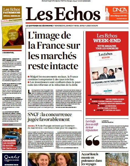 Les Echos – 06.04.2018 – 07.04.2018
