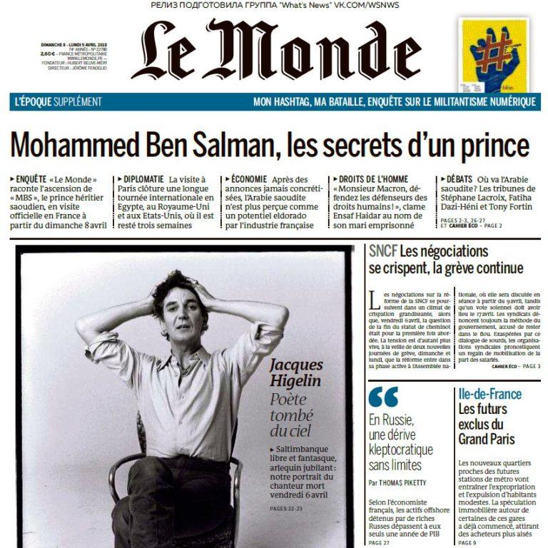 Le Monde – 08.04.2018 – 09.04.2018