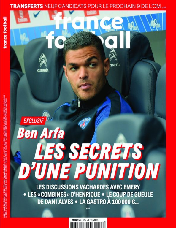 France Football – 03 Avril 2018