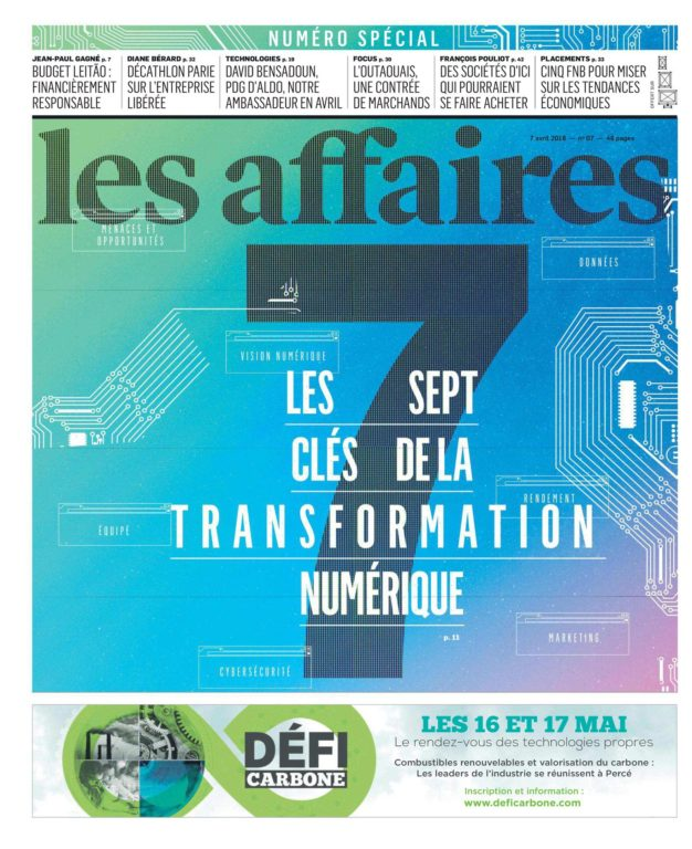 Les Affaires – 07 Avril 2018