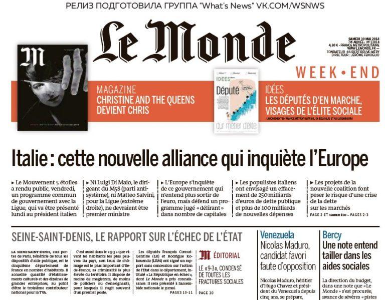 Le Monde – 19.05.2018