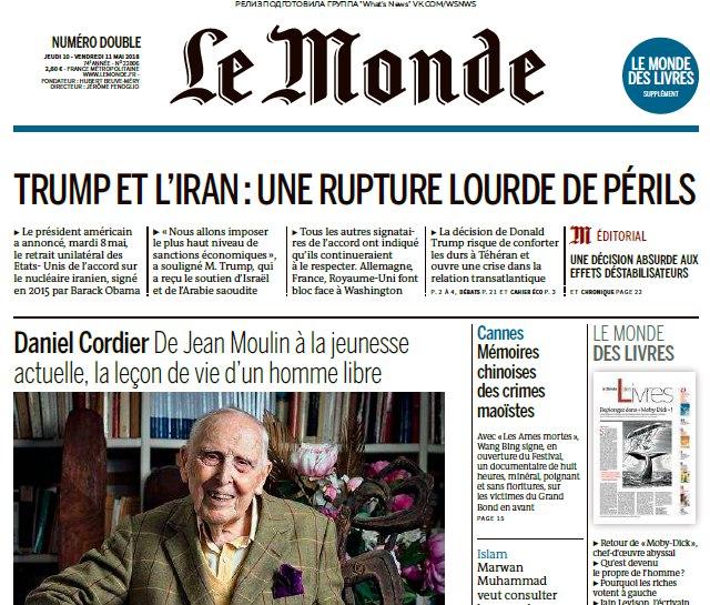 Le Monde – 10.05.2018