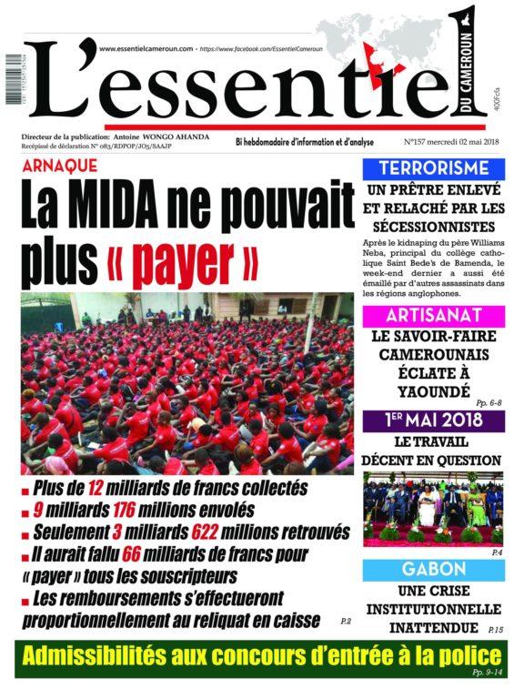 L'essentiel Du Cameroun – 02 Mai 2018
