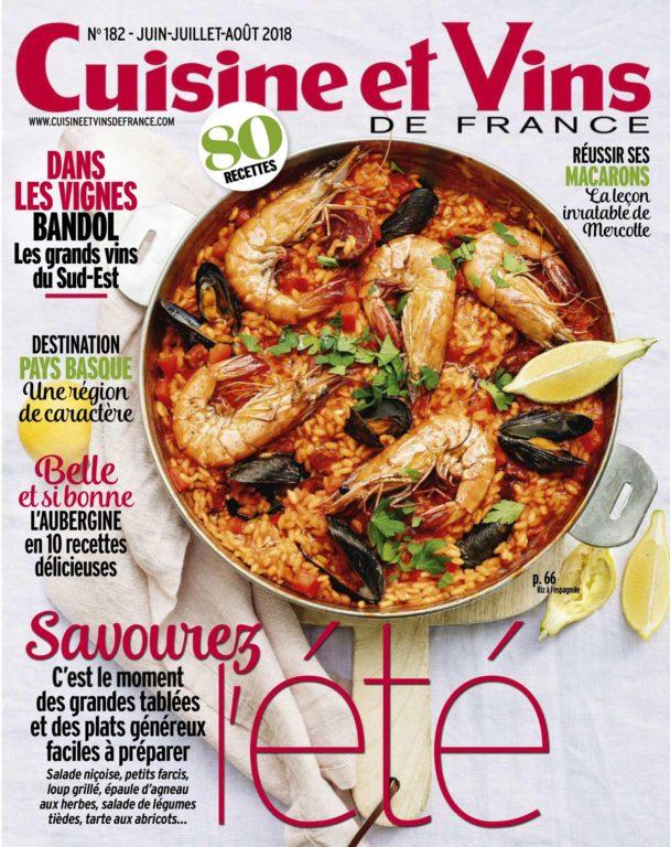 Cuisine Et Vins De France – Juin 2018
