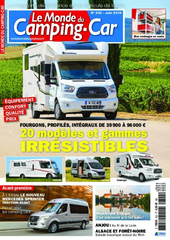 le monde du camping car juin 2018 t l charger pdf magazine gratuitement. Black Bedroom Furniture Sets. Home Design Ideas