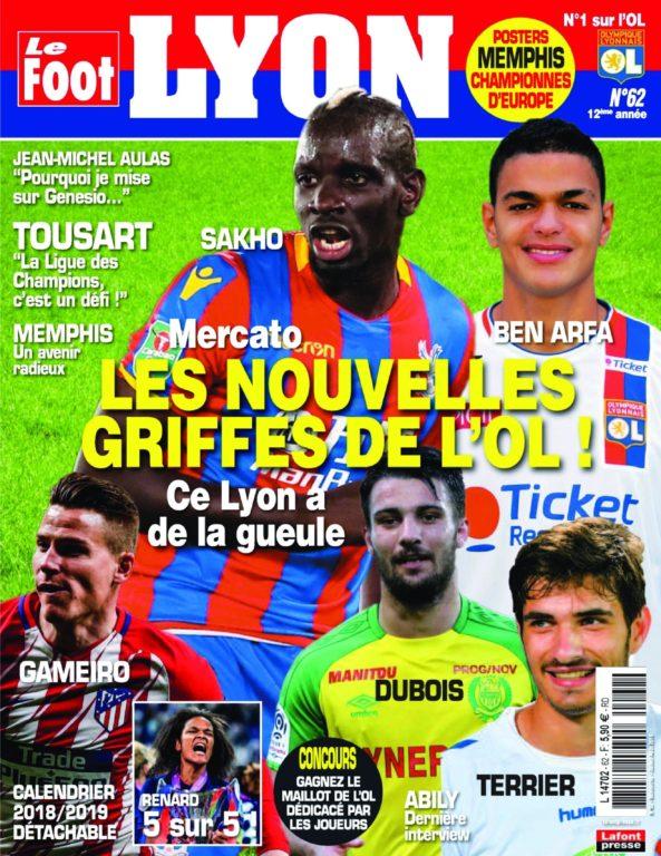 Le Foot Lyon – Juillet-août 2018