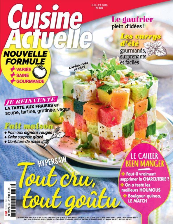 Cuisine Actuelle – Juin 2018