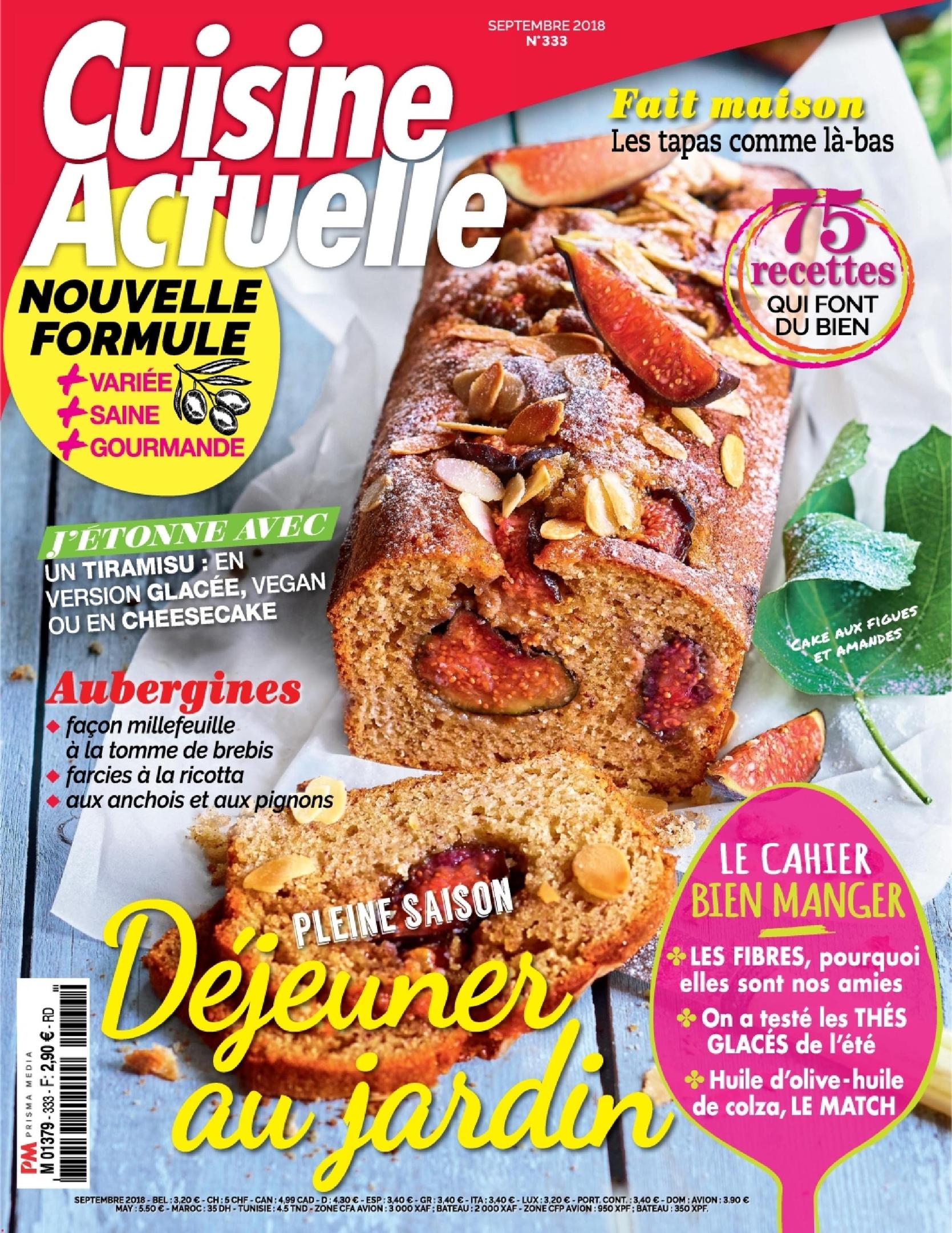 Cuisine Actuelle – Août 2018