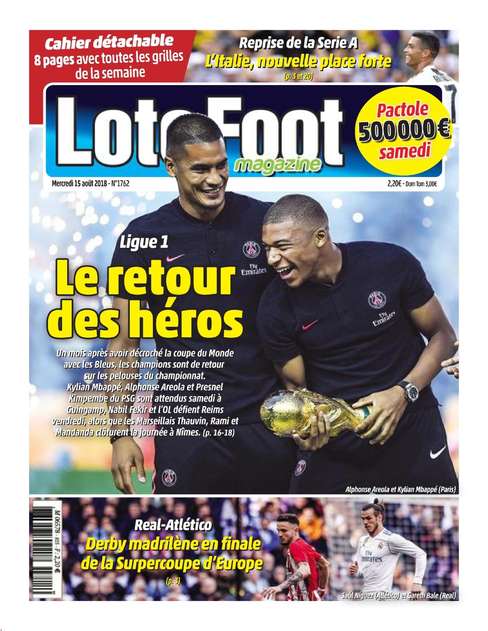 Loto Foot – 15 Août 2018