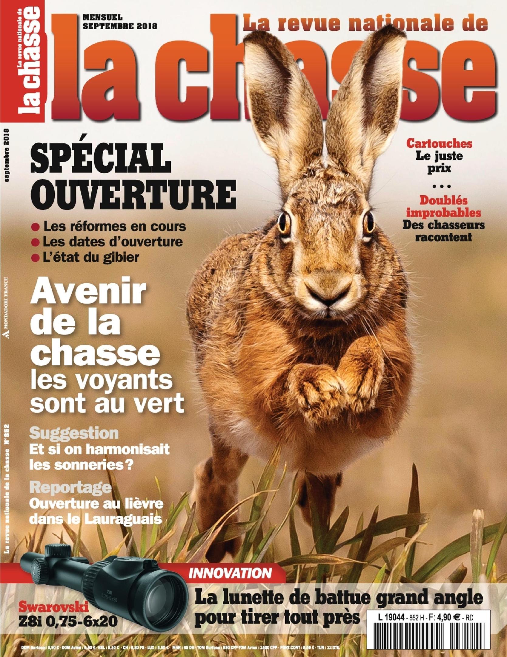 La Revue Nationale De La Chasse – Septembre 2018