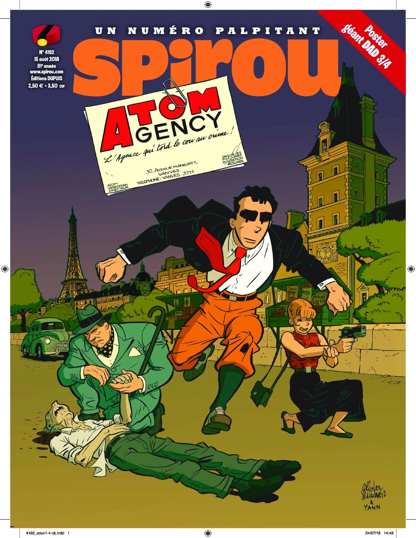 Le Journal De Spirou – 15 Août 2018