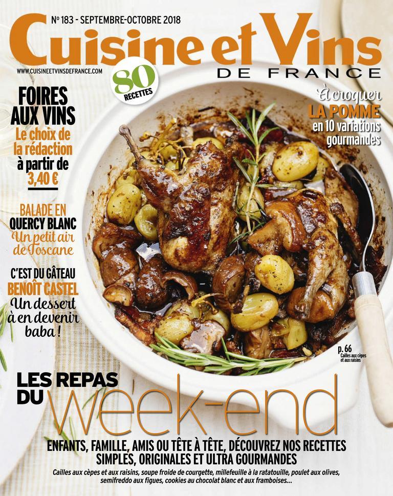 Cuisine Et Vins De France – Septembre 2018