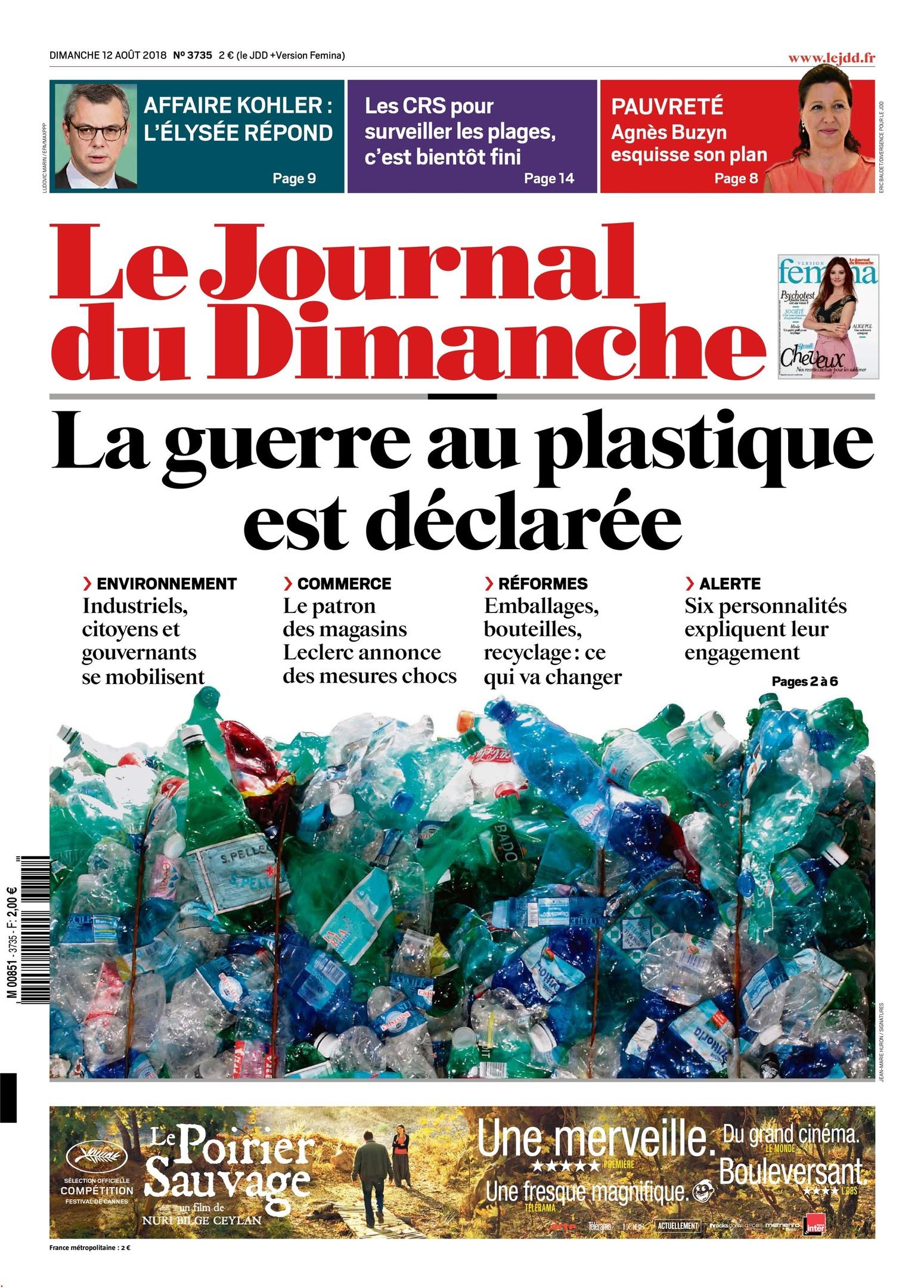 Le Journal Du Dimanche – 12 Août 2018