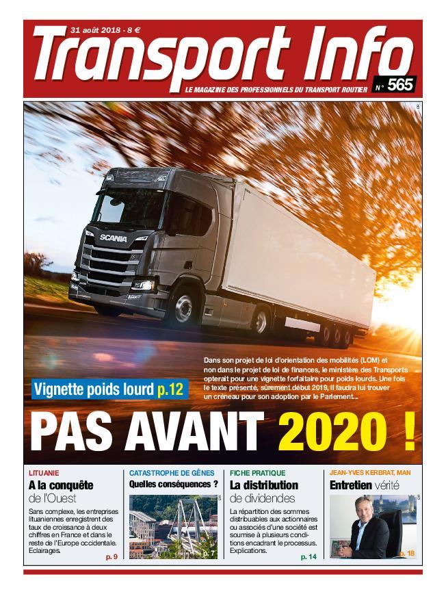 Transport Info – 31 Août 2018
