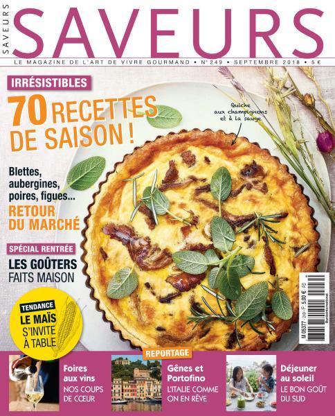 Saveurs France – Septembre 2018