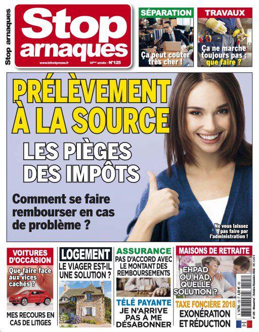Stop Arnaques – Octobre-Novembre 2018