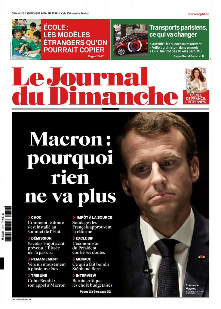 Le Journal Du Dimanche – 02 Septembre 2018
