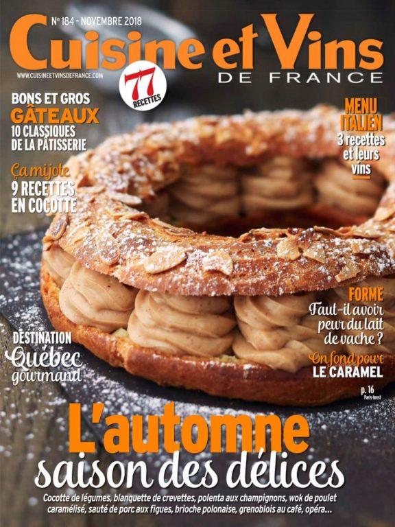 Cuisine Et Vins De France – Novembre 2018
