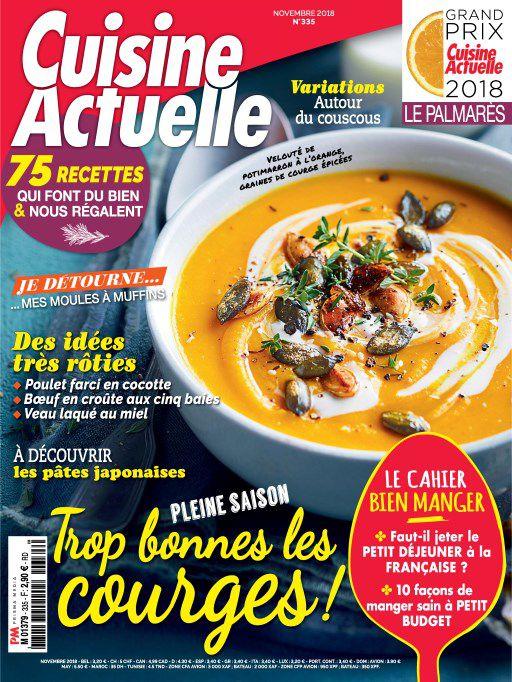 Cuisine Actuelle – Novembre 2018