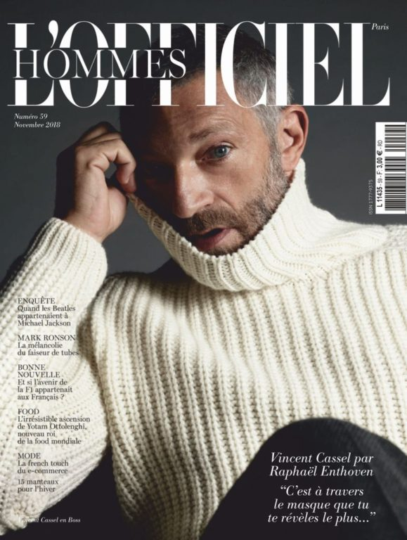 L'Officiel Hommes Paris – Novembre 2018