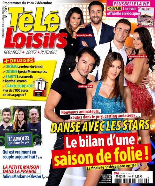 Télé Loisirs – 26 Novembre 2018