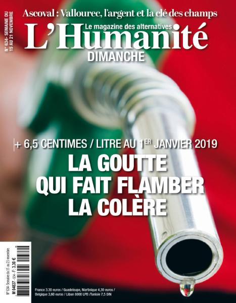 L'Humanite Dimanche – 15 Novembre 2018