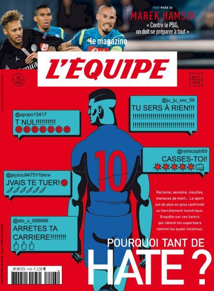 L'Equipe Magazine – 3 Novembre 2018
