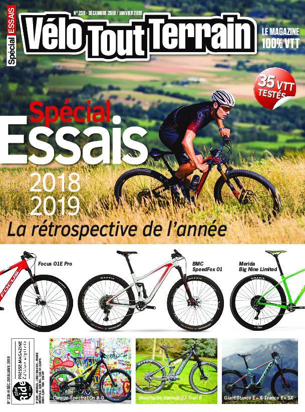 Vélo Tout Terrain – Décembre-janvier 2018