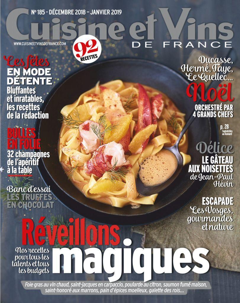 Cuisine Et Vins De France – Décembre 2018