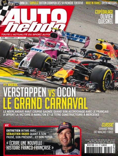 Auto Hebdo – 14 Novembre 2018