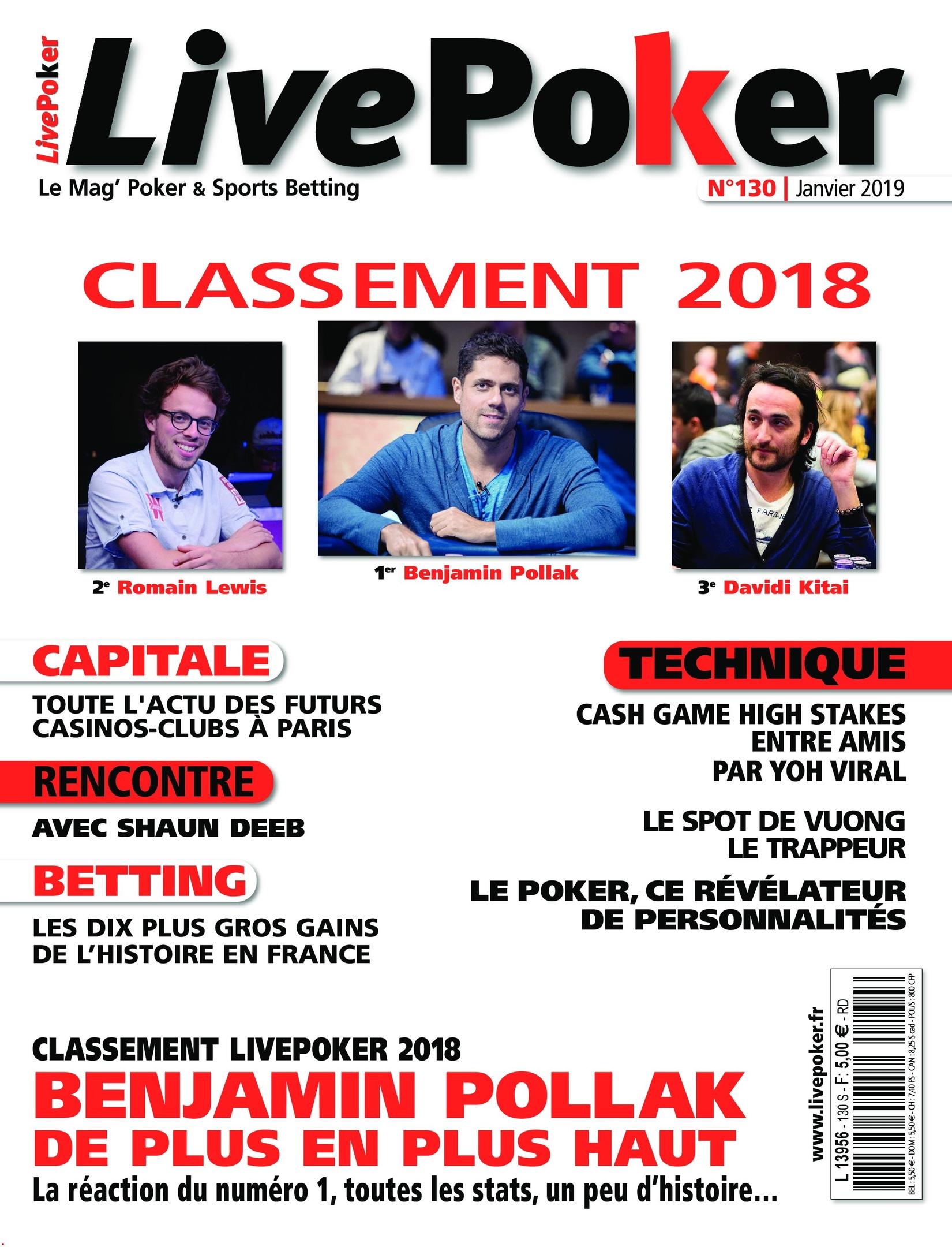 Live Poker – 09 Janvier 2019