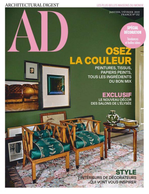 AD Architectural Digest France – Janvier-février 2019