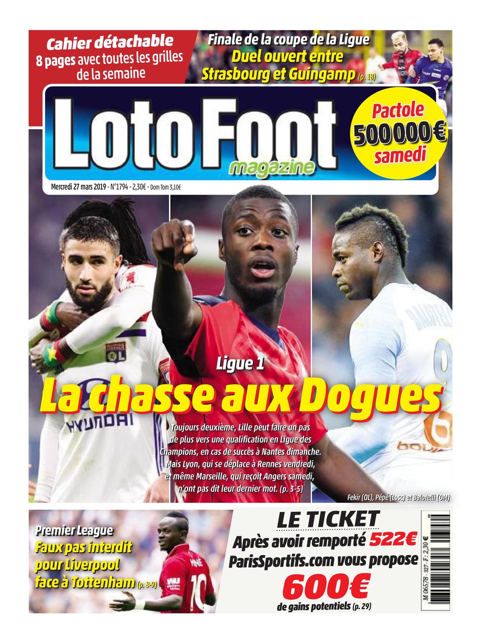 Loto Foot – 27 Mars 2019